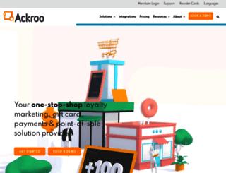 ackroo.com screenshot