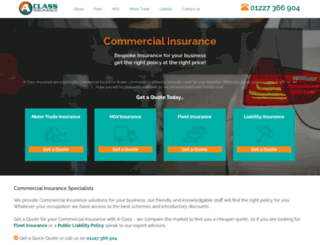 aclassinsurance.com screenshot