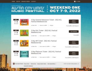 aclfest-weekend1.frontgatetickets.com screenshot