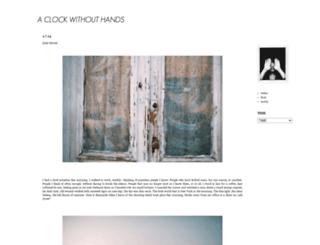 aclockwithouthands.blogspot.com screenshot