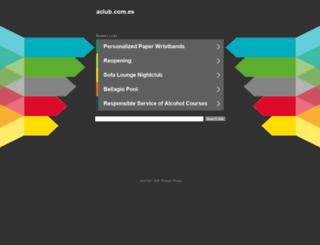 aclub.com.es screenshot