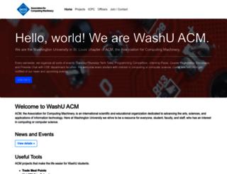 acm.wustl.edu screenshot