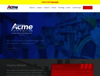 acmedistribution.com screenshot