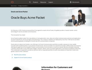 acmepacket.com screenshot