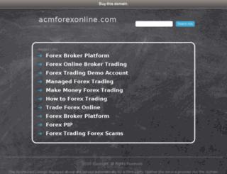 acmforexonline.com screenshot