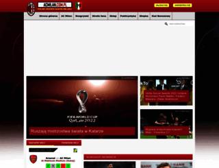 acmilan.com.pl screenshot