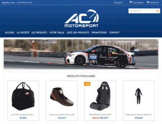 acmotorsport.be screenshot