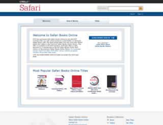 acmsel.safaribooksonline.com screenshot