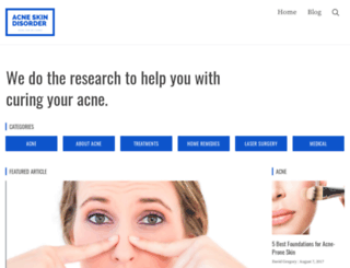 acneskindisorder.com screenshot
