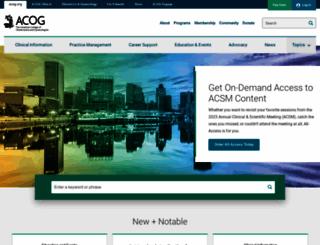 acog.org screenshot