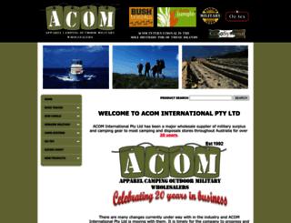 acominternational.com.au screenshot