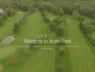 acornparkgolf.com screenshot