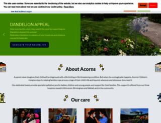 acorns.org.uk screenshot