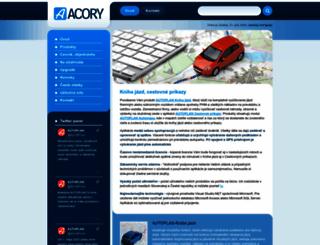 acory.sk screenshot