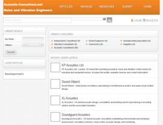 acoustic-consultant.net screenshot