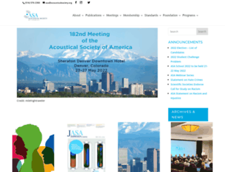 acousticalsociety.org screenshot