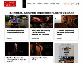 acousticguitar.com screenshot