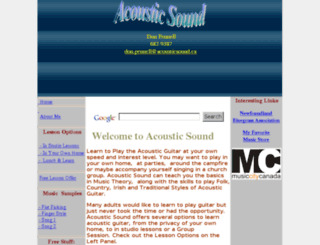 acousticsound.ca screenshot