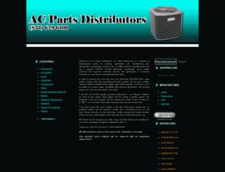 acpartsdistributors.com screenshot