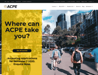 acpe.edu.au screenshot