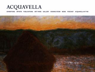acquavellagalleries.com screenshot