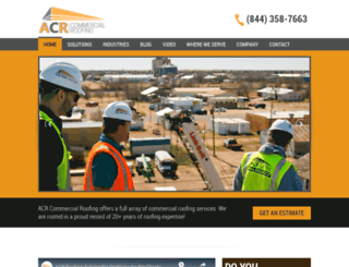 acrcommercialroofing.com screenshot