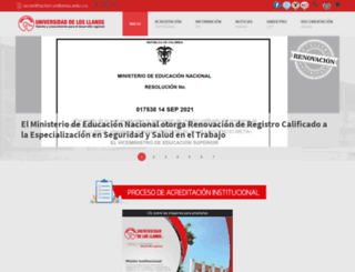 acreditacion.unillanos.edu.co screenshot
