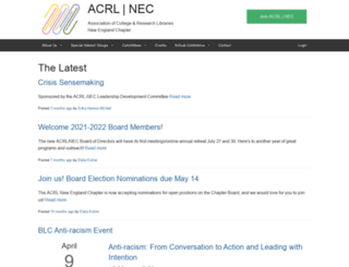 acrlnec.org screenshot
