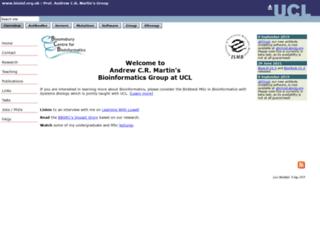 acrmwww.biochem.ucl.ac.uk screenshot