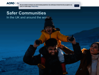 acro.police.uk screenshot