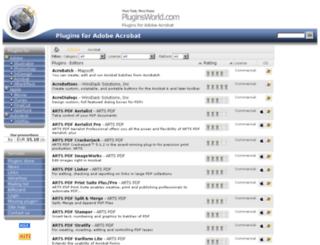 acrobat.pluginsworld.com screenshot