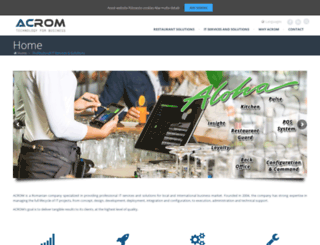 acrom.ro screenshot