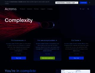 acronis.com screenshot