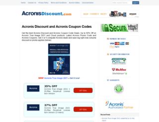 acronisdiscount.com screenshot