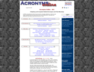 acronymsonline.com screenshot