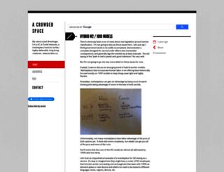 acrowdedspace.com screenshot