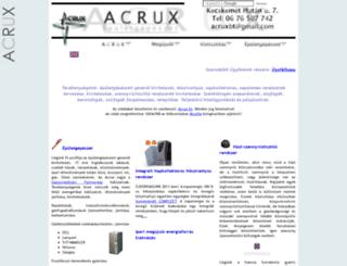 acrux.hu screenshot