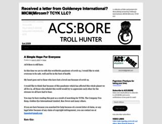 acsbore.wordpress.com screenshot