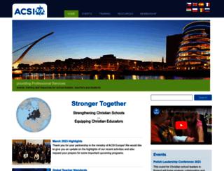 acsieurope.org screenshot