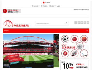 acsportswear.com.au screenshot