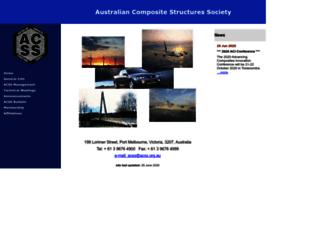 acss.org.au screenshot