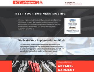 act-solutions.com.hk screenshot
