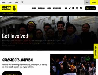 act.amnestyusa.org screenshot