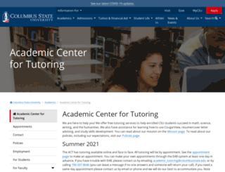 act.columbusstate.edu screenshot