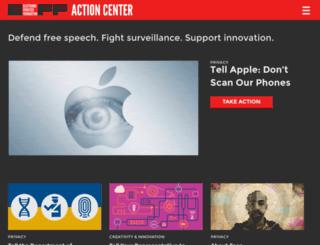 act.eff.org screenshot