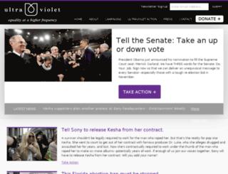 act.weareultraviolet.org screenshot
