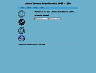 actachemscand.org screenshot