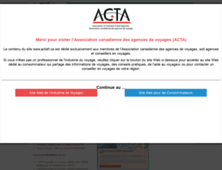 actafr.ca screenshot