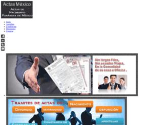 actasmexico.com screenshot