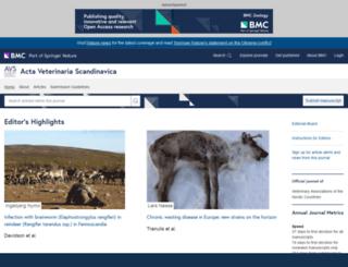 actavetscand.biomedcentral.com screenshot